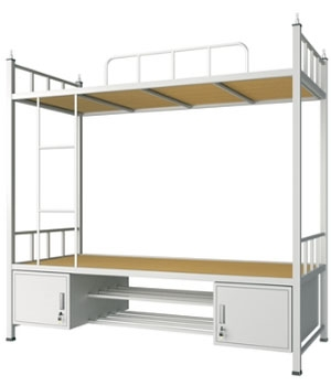 SC04 double bed with bottom cabinet