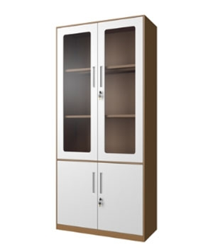 CB02-K integral glass door cabinet