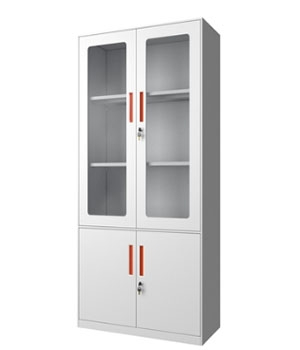 CB02-B integral glass door cabinet