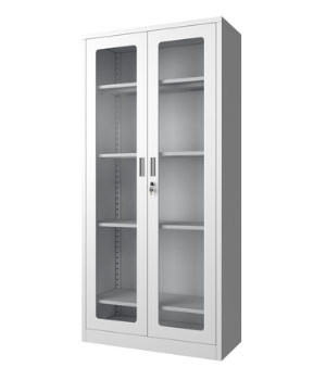 CK01-B open glass door cabinet