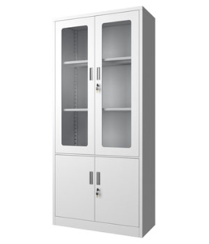 CK02-B integral glass door cabinet