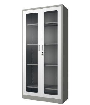 CK01-H open glass door cabinet