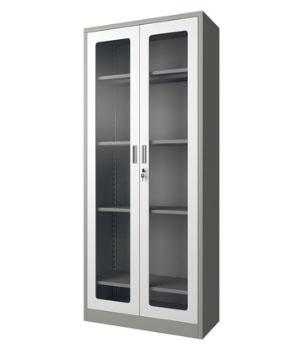 GK01-H open glass door cabinet