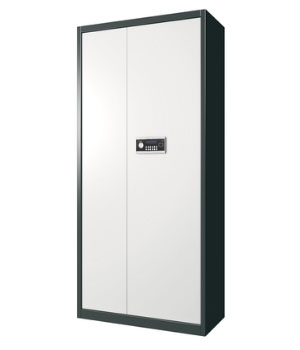 BM01 electronic single door dark gray color cabinet