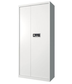 BM02 electronic single-door all-white secret cabinet