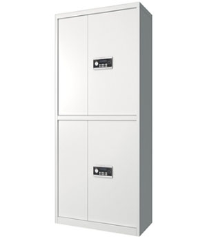 BM05 Electronic All-in-One Double-door All-White Secret Cabinet