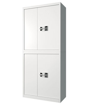 BM07 Guobao Dual-door All-white Secret Cabinet