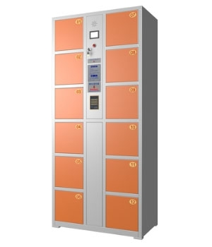 CB02 12 Smart Card Electronic Storage Cabinet