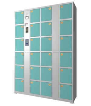 CB04 24 Gate Central Control Self-Setting Password Storage Cabinet