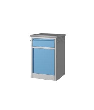 Y07 Medical Bedside Cabinet - Blue