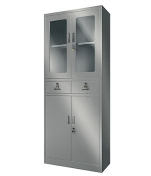 Y09 stainless steel glass cabinet