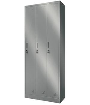 Y11 stainless steel three-door locker