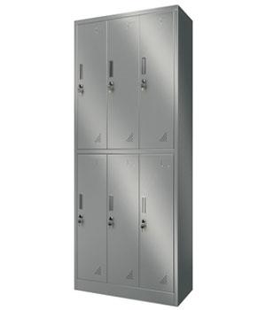 Y12 stainless steel six door locker