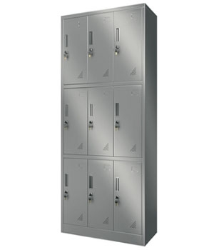 Y13 stainless steel nine door locker